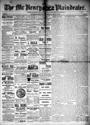 McHenry Plaindealer (McHenry, IL), 2 Jul 1884