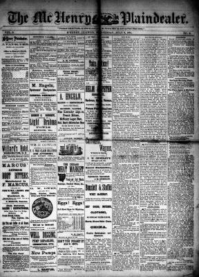 McHenry Plaindealer (McHenry, IL), 9 Jul 1884