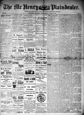 McHenry Plaindealer (McHenry, IL), 30 Jul 1884