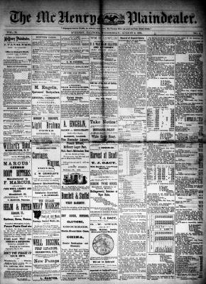 McHenry Plaindealer (McHenry, IL), 6 Aug 1884
