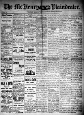 McHenry Plaindealer (McHenry, IL), 10 Sep 1884