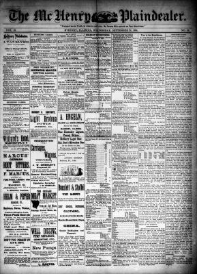 McHenry Plaindealer (McHenry, IL), 24 Sep 1884