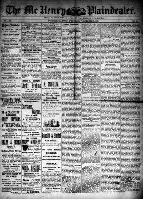 McHenry Plaindealer (McHenry, IL), 1 Oct 1884