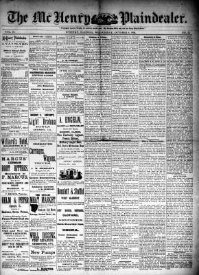 McHenry Plaindealer (McHenry, IL), 8 Oct 1884