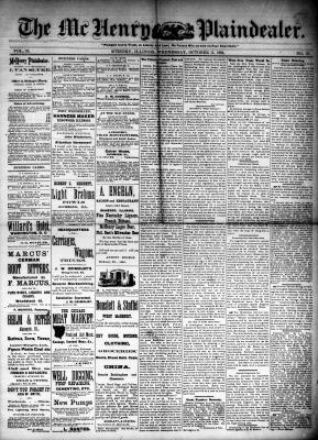 McHenry Plaindealer (McHenry, IL), 15 Oct 1884