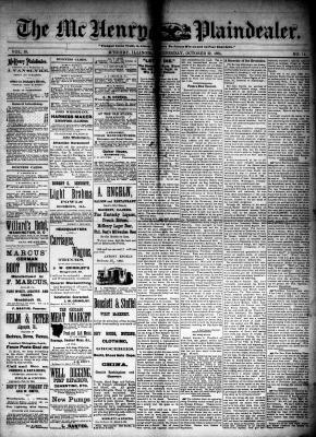 McHenry Plaindealer (McHenry, IL), 22 Oct 1884