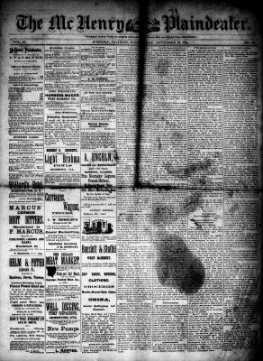 McHenry Plaindealer (McHenry, IL), 19 Nov 1884