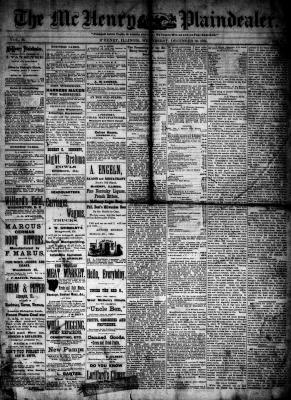McHenry Plaindealer (McHenry, IL), 10 Dec 1884