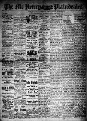 McHenry Plaindealer (McHenry, IL), 14 Jan 1885