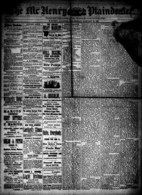 McHenry Plaindealer (McHenry, IL), 21 Jan 1885