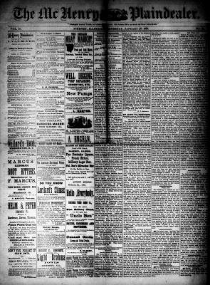 McHenry Plaindealer (McHenry, IL), 28 Jan 1885