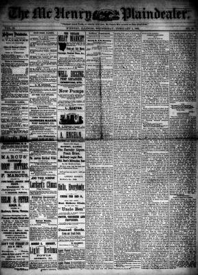 McHenry Plaindealer (McHenry, IL), 4 Feb 1885