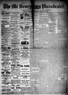 McHenry Plaindealer (McHenry, IL), 18 Feb 1885