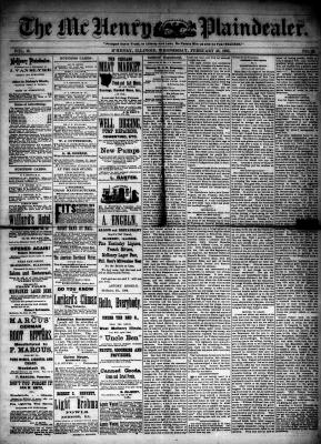 McHenry Plaindealer (McHenry, IL), 25 Feb 1885