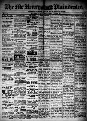 McHenry Plaindealer (McHenry, IL), 4 Mar 1885