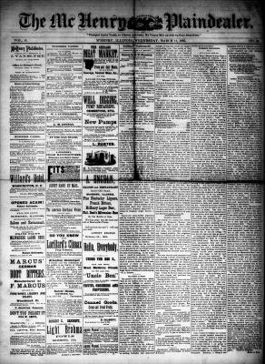 McHenry Plaindealer (McHenry, IL), 11 Mar 1885