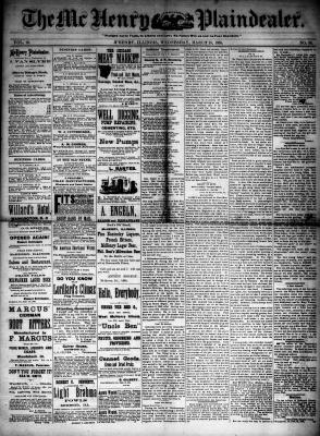 McHenry Plaindealer (McHenry, IL), 25 Mar 1885