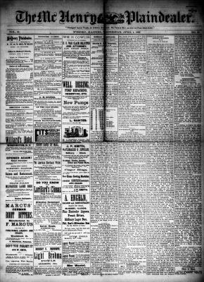 McHenry Plaindealer (McHenry, IL), 1 Apr 1885