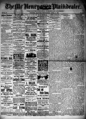McHenry Plaindealer (McHenry, IL), 15 Apr 1885
