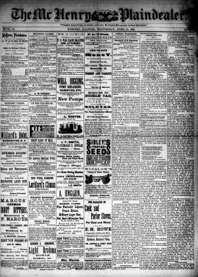 McHenry Plaindealer (McHenry, IL), 22 Apr 1885