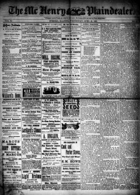 McHenry Plaindealer (McHenry, IL), 29 Apr 1885