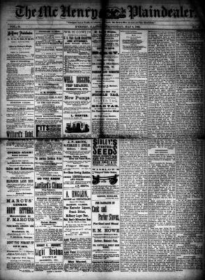 McHenry Plaindealer (McHenry, IL), 6 May 1885
