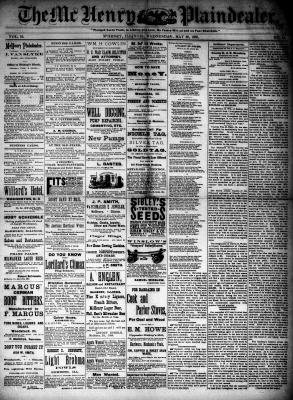 McHenry Plaindealer (McHenry, IL), 20 May 1885