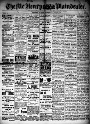 McHenry Plaindealer (McHenry, IL), 27 May 1885
