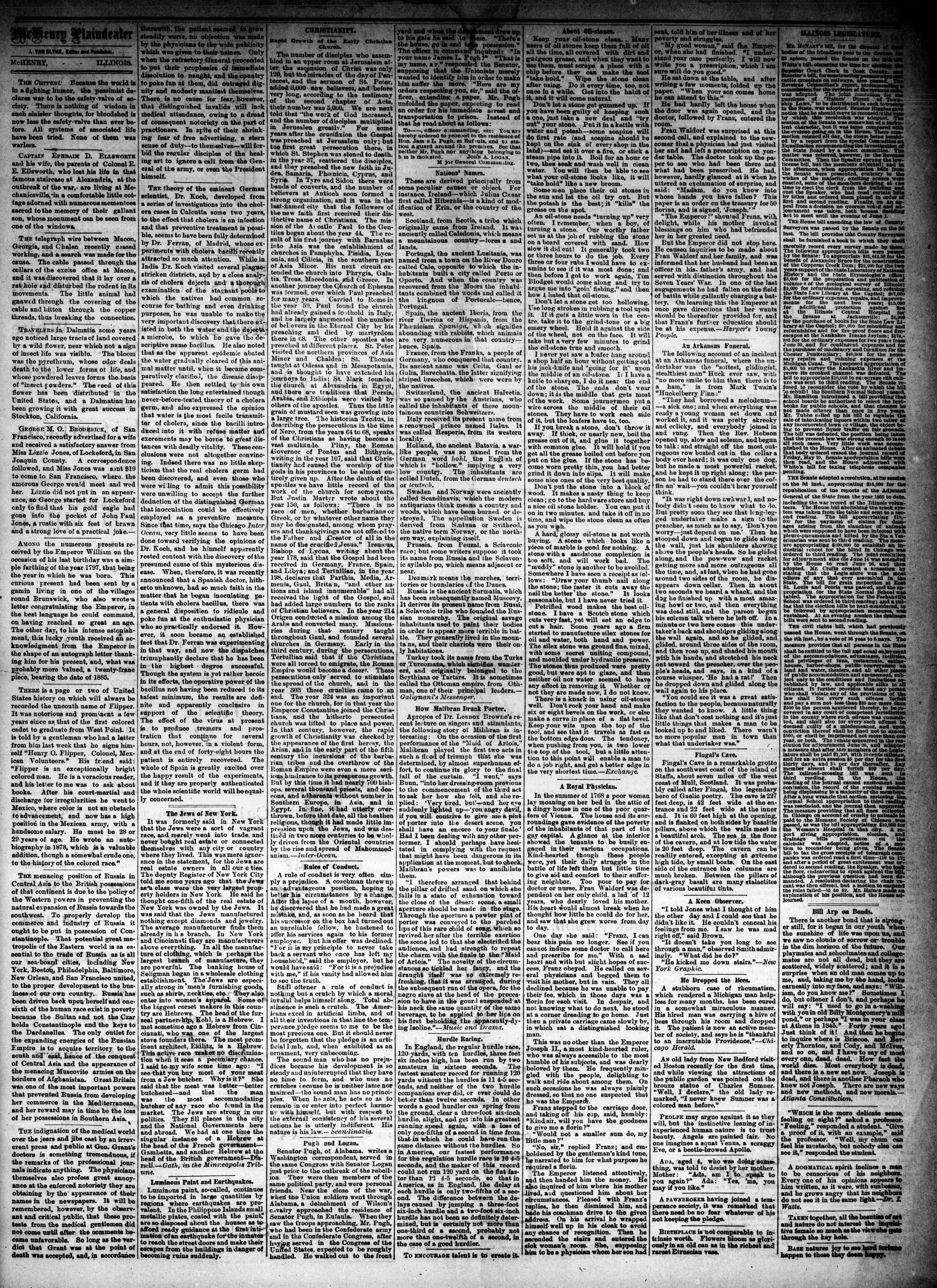 McHenry Plaindealer (McHenry, IL), 10 Jun 1885