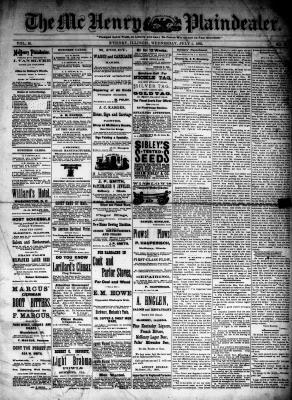 McHenry Plaindealer (McHenry, IL), 1 Jul 1885