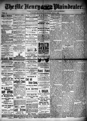 McHenry Plaindealer (McHenry, IL), 8 Jul 1885