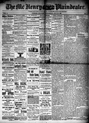 McHenry Plaindealer (McHenry, IL), 22 Jul 1885