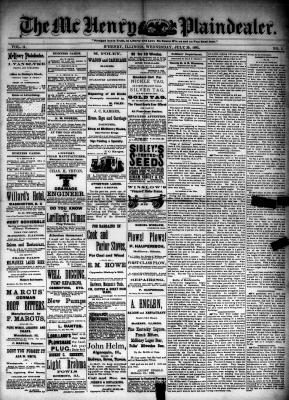 McHenry Plaindealer (McHenry, IL), 29 Jul 1885
