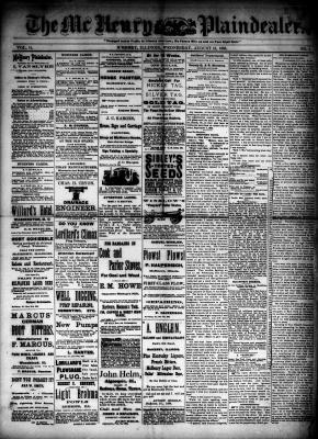 McHenry Plaindealer (McHenry, IL), 12 Aug 1885