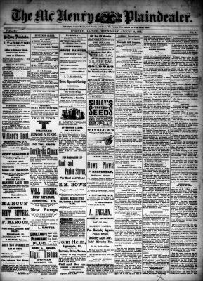 McHenry Plaindealer (McHenry, IL), 19 Aug 1885