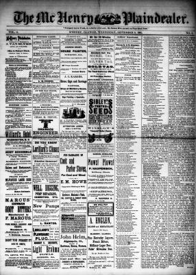 McHenry Plaindealer (McHenry, IL), 9 Sep 1885