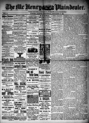 McHenry Plaindealer (McHenry, IL), 16 Sep 1885