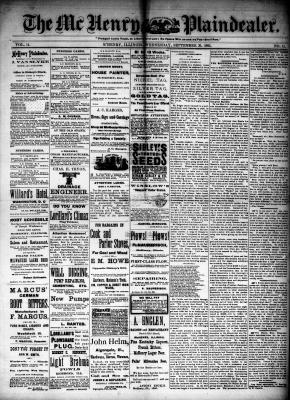 McHenry Plaindealer (McHenry, IL), 30 Sep 1885