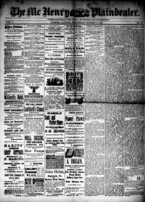 McHenry Plaindealer (McHenry, IL), 14 Oct 1885