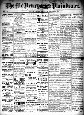McHenry Plaindealer (McHenry, IL), 28 Oct 1885