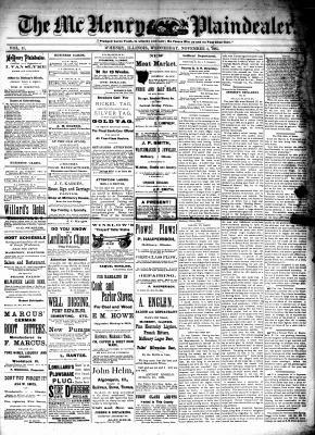 McHenry Plaindealer (McHenry, IL), 4 Nov 1885