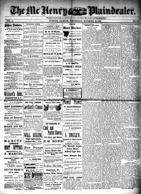 McHenry Plaindealer (McHenry, IL), 25 Nov 1885