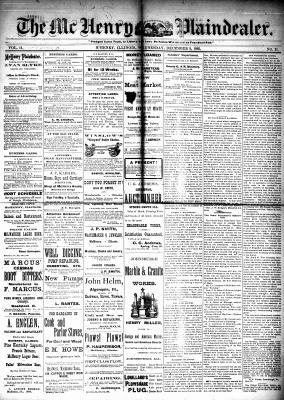 McHenry Plaindealer (McHenry, IL), 9 Dec 1885