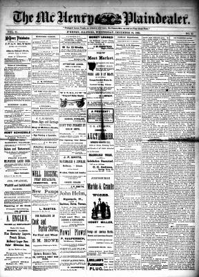 McHenry Plaindealer (McHenry, IL), 16 Dec 1885