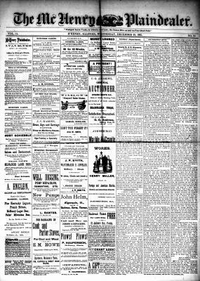 McHenry Plaindealer (McHenry, IL), 23 Dec 1885