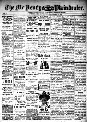 McHenry Plaindealer (McHenry, IL), 17 Feb 1886