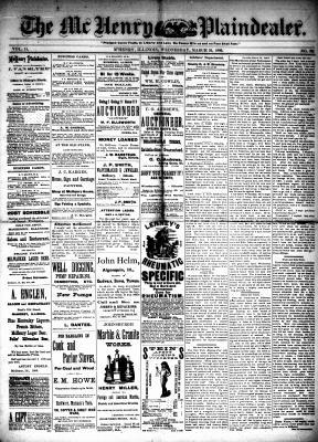 McHenry Plaindealer (McHenry, IL), 24 Mar 1886