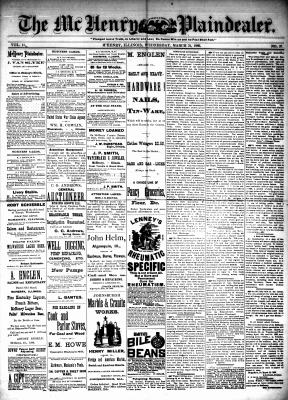 McHenry Plaindealer (McHenry, IL), 31 Mar 1886