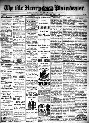 McHenry Plaindealer (McHenry, IL), 7 Apr 1886