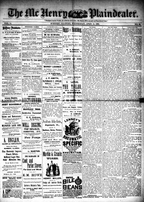 McHenry Plaindealer (McHenry, IL), 14 Apr 1886